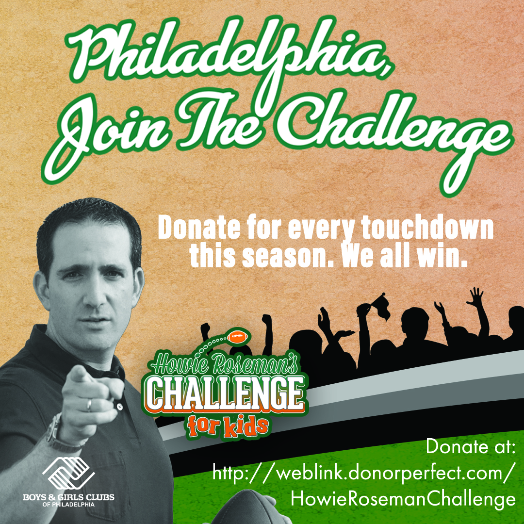 Howie Roseman's Challenge for Kids 2020